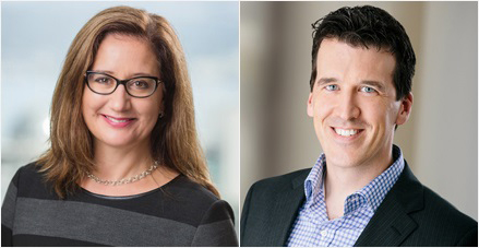 Michelle Isaak and David Spratley, both partners at DLA Piper
